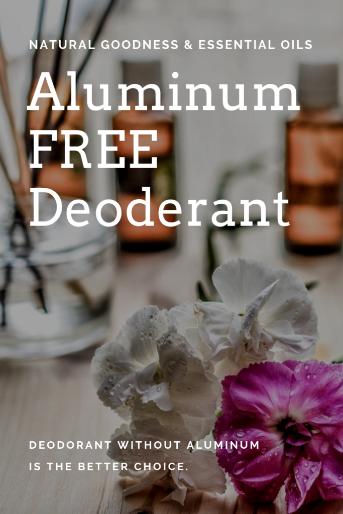 Deodorant without Aluminum