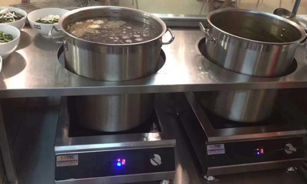 How to make large servings for soup with Commercial Induction Cooktop