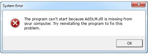 Fixing AdDLM.dll by Replacing Your DLL File